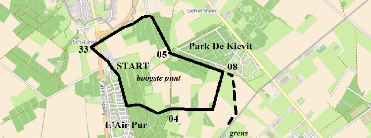 16.10 route ommetje